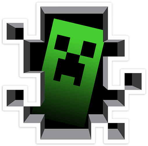 Stickers muraux: Sticker Minecraft Crepper