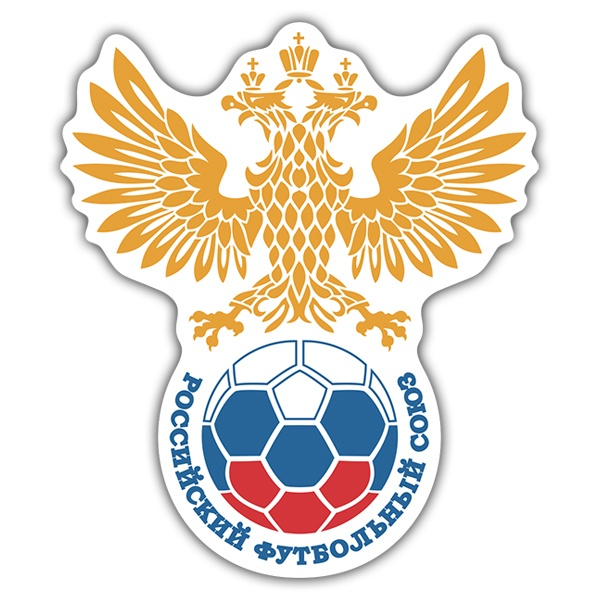 Stickers muraux: Russie - Bouclier de football