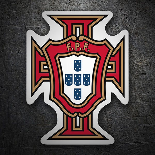 Autocollants: Portugal - Bouclier de football