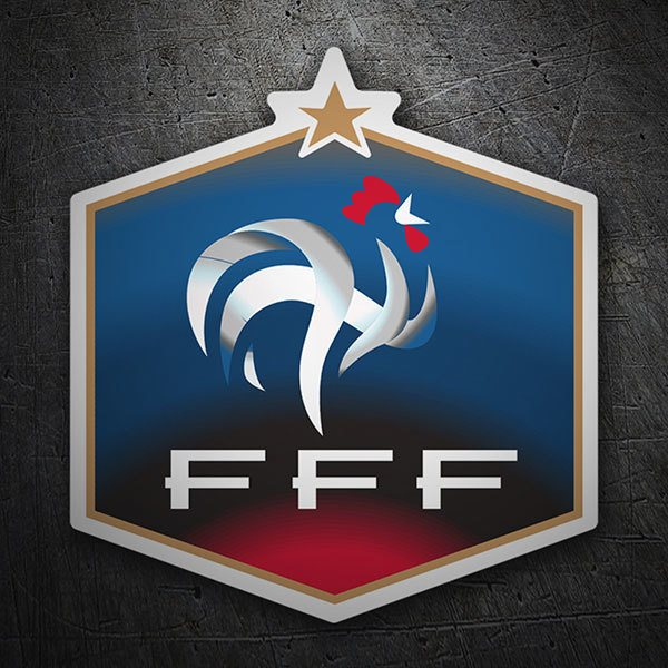 Autocollants: France - Bouclier de football