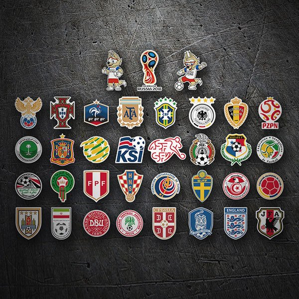 Autocollants: Russie World Shields Kit 2018