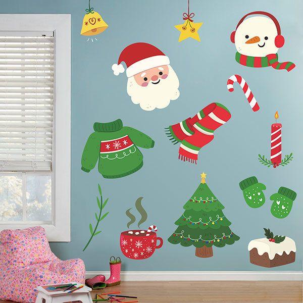 Sticker Mural Enfant Kit De Decoration De Noel Webstickersmuraux Com