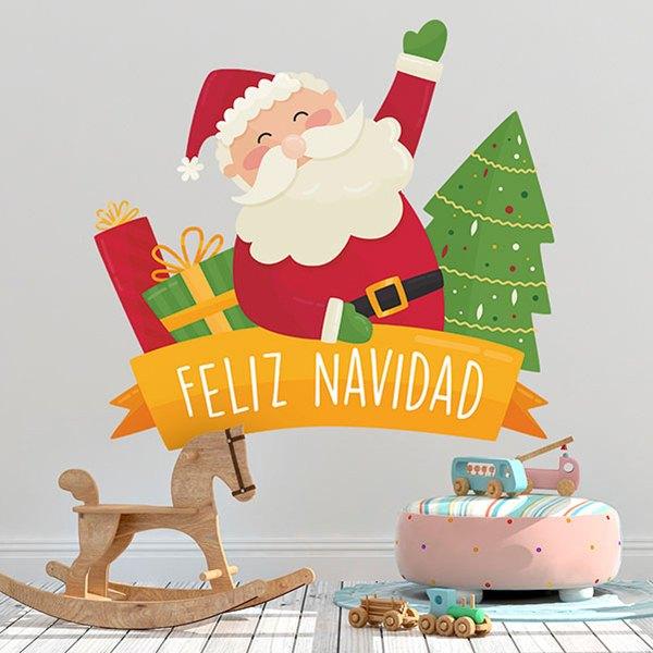 Chambre En Espagnol: Sticker Mural Enfant Joyeux Noël, En Espagnol
