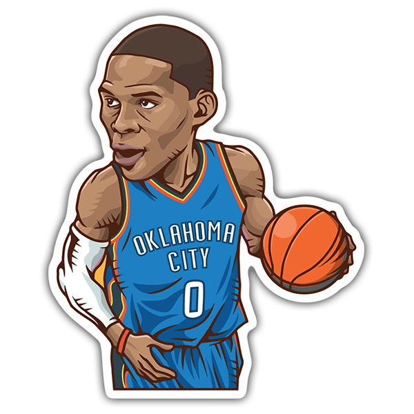Autocollants: NBA - Russell Westbrook All-Star