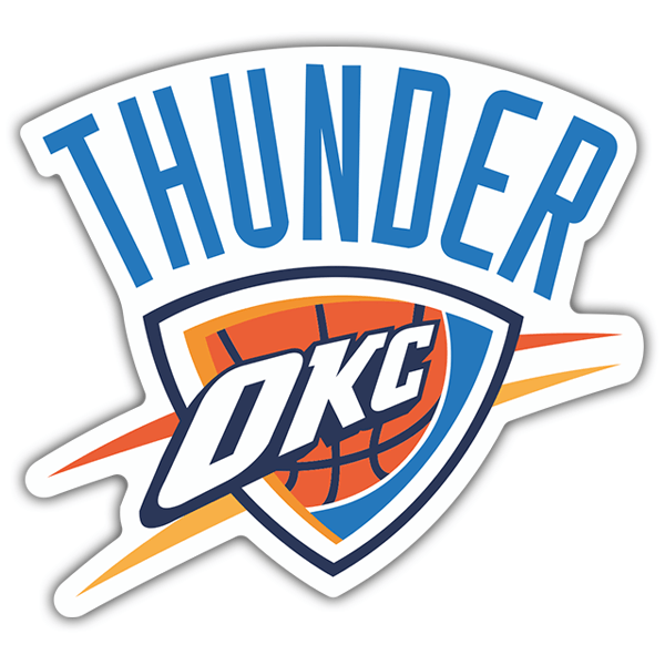 Autocollants: NBA - Oklahoma City Thunder bouclier