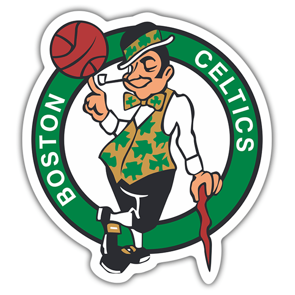 Autocollants: NBA - Boston Celtics bouclier 0