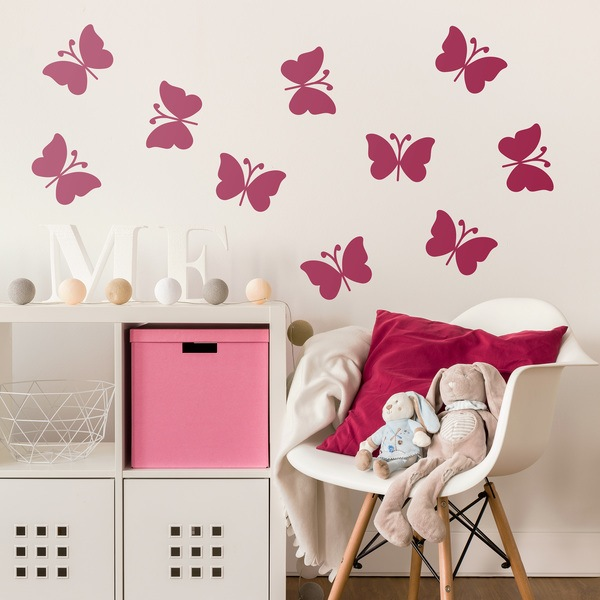 Stickers muraux: Kit de 10 papillons Ceiba