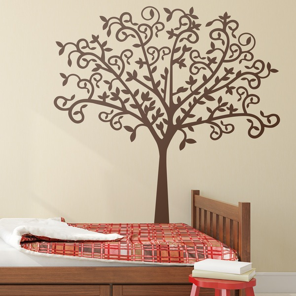 sticker mural silhouette d 39 arbre originale. Black Bedroom Furniture Sets. Home Design Ideas