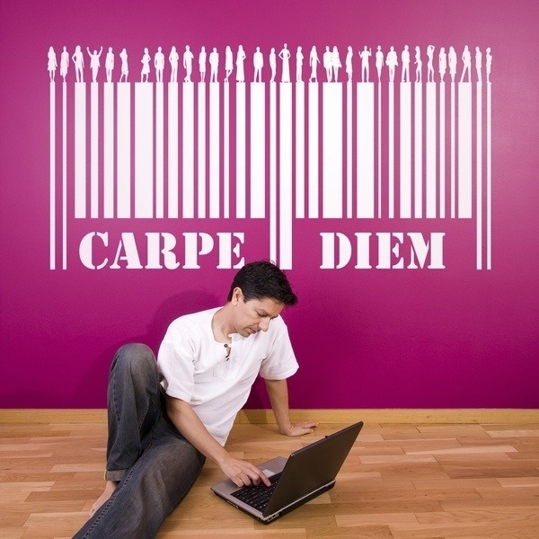 Stickers muraux: Carpe Diem - Code barre
