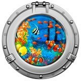 Stickers muraux: Les poissons clown et naufrage 5