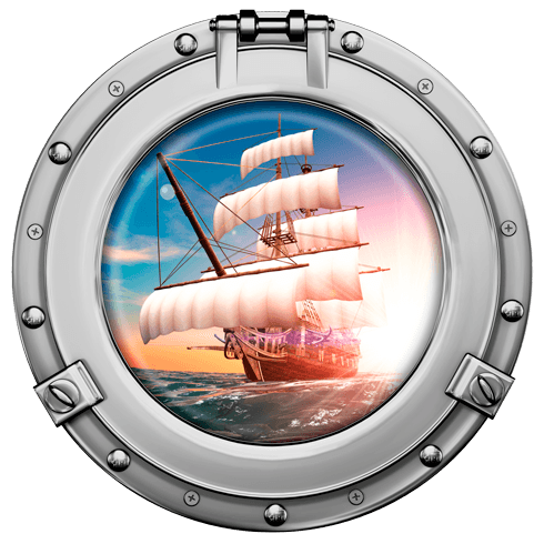 Stickers muraux: Voilier pirate