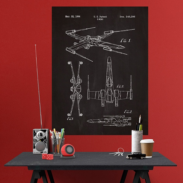 poster adh sif ardoise brevet e x wing. Black Bedroom Furniture Sets. Home Design Ideas