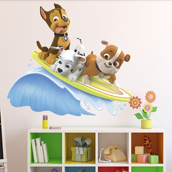 vinyle pour les enfants la pat 39 patrouille chase marshall et rubble surf. Black Bedroom Furniture Sets. Home Design Ideas