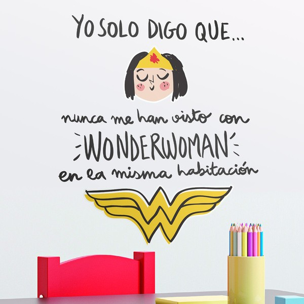Stickers pour enfants: Nunca me han visto con Wonderwoman