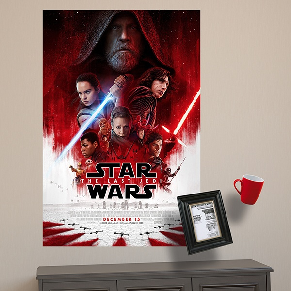 Stickers muraux: Poster adhésif Star Wars The last Jedi