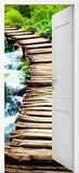 Stickers muraux: Porte ouverte pont de bois 6