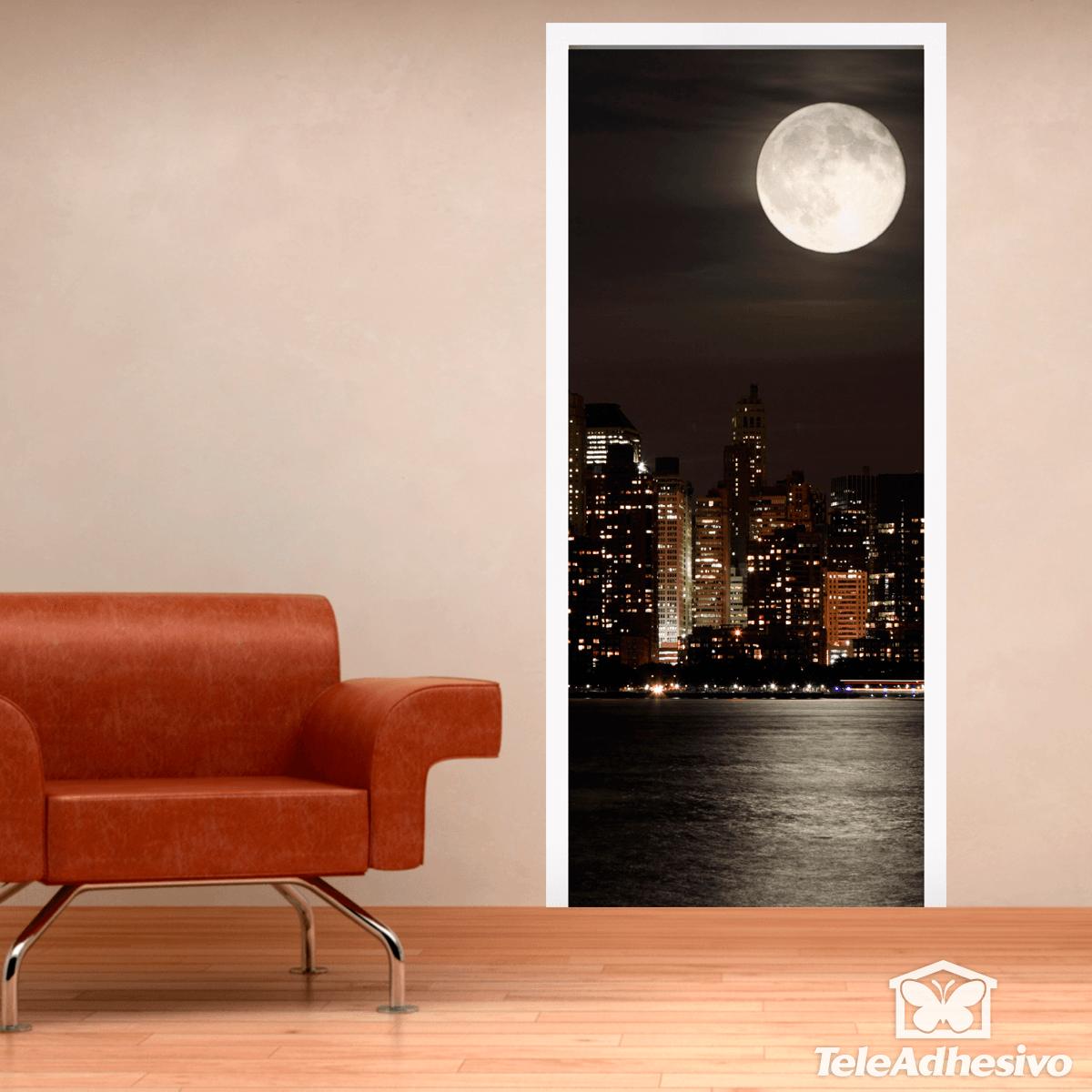Stickers muraux: Porte Lune dans Manhattan
