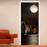 Stickers muraux: Porte Lune dans Manhattan 3