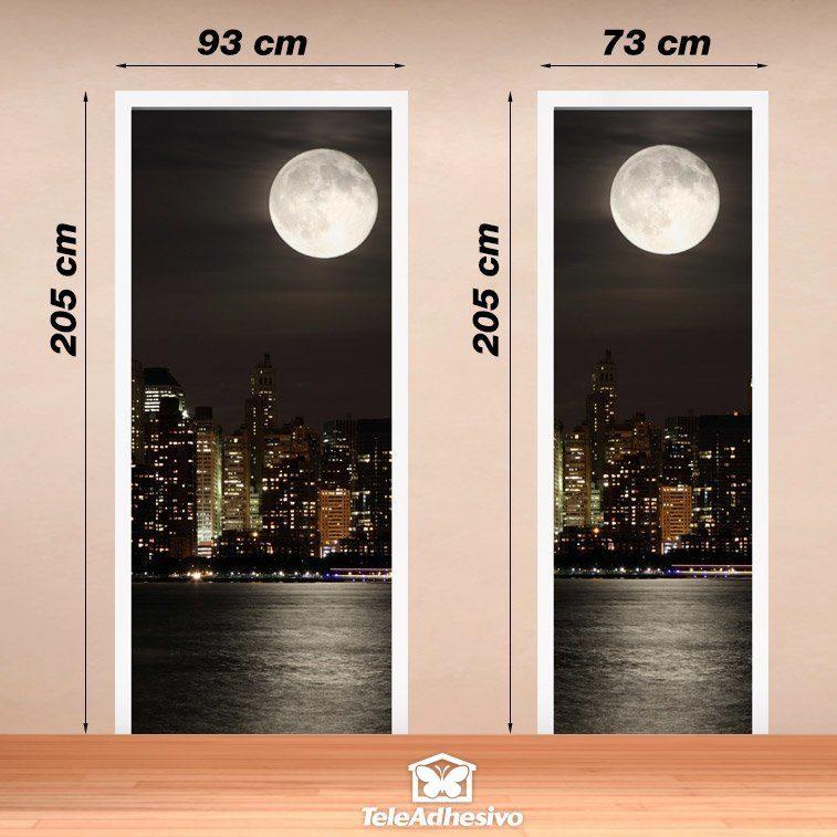 Poster xxl porte lune dans manhattan for Poster de porte new york