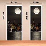 Stickers muraux: Porte Lune dans Manhattan 4