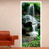 Stickers muraux: Porte Chute d eau et de pierres 2 3