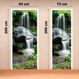 Stickers muraux: Porte Chute d eau et de pierres 2 4