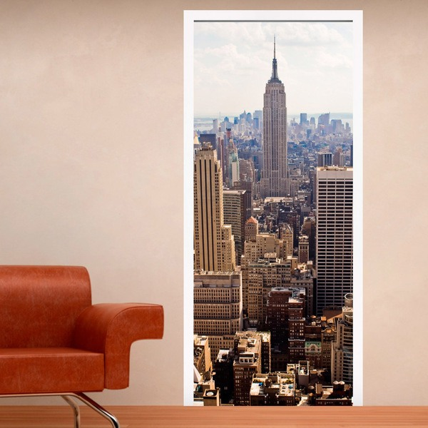 Stickers muraux: Porte vue sur l Empire State Building