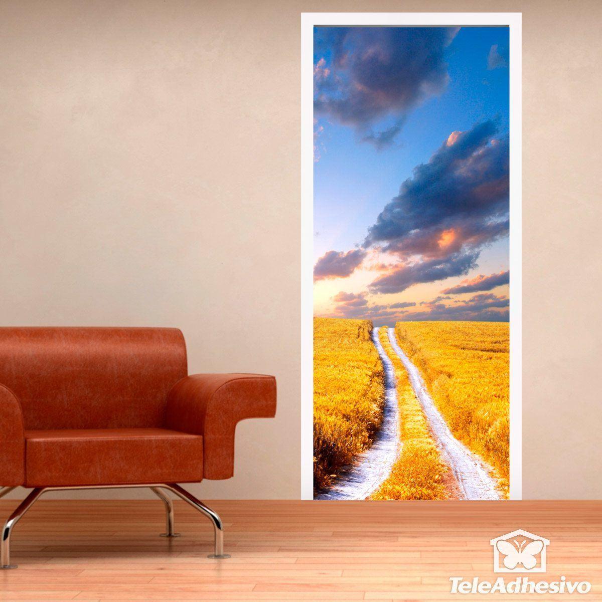 Stickers muraux: Porte domaine routier et le blé