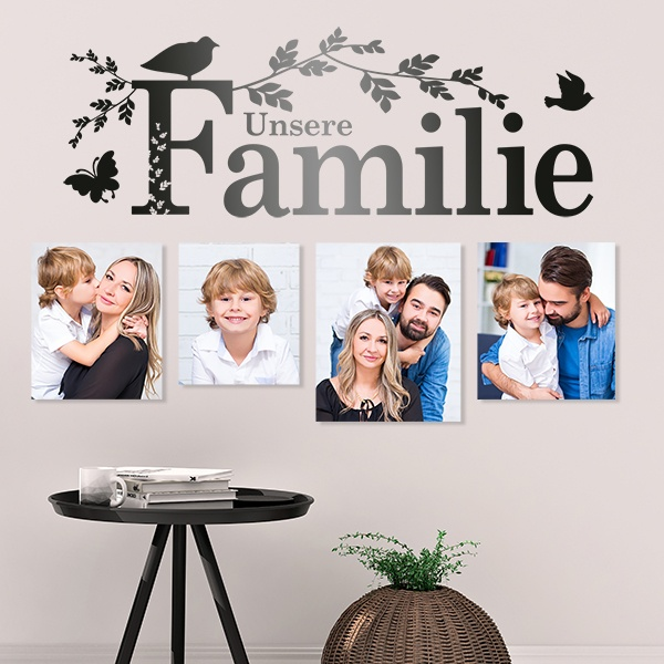Stickers muraux: Unsere Familie
