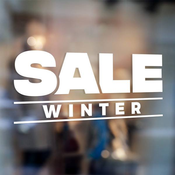 Stickers muraux: Sale Winter