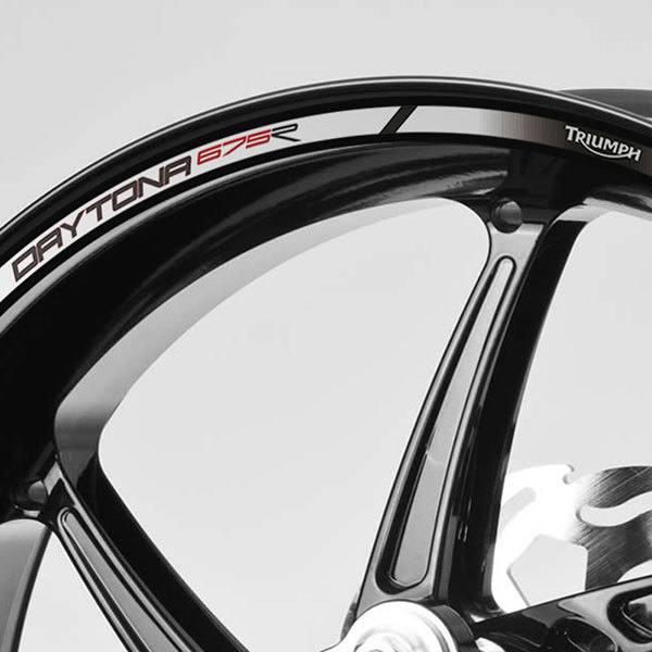 2 Tons Am/éthyste Jante de Moto d/écalcomanies Autocollant Accessoire pour Triumph Daytona 675