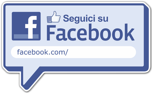 Stickers muraux: Seguici su Facebook