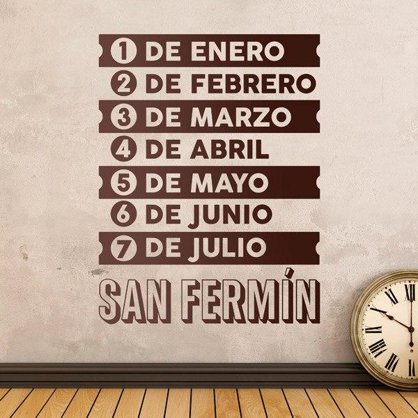 Stickers muraux: Chanson San Fermin