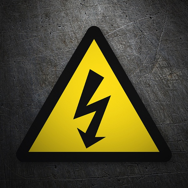 Autocollants: Sticker symboles danger haute tension