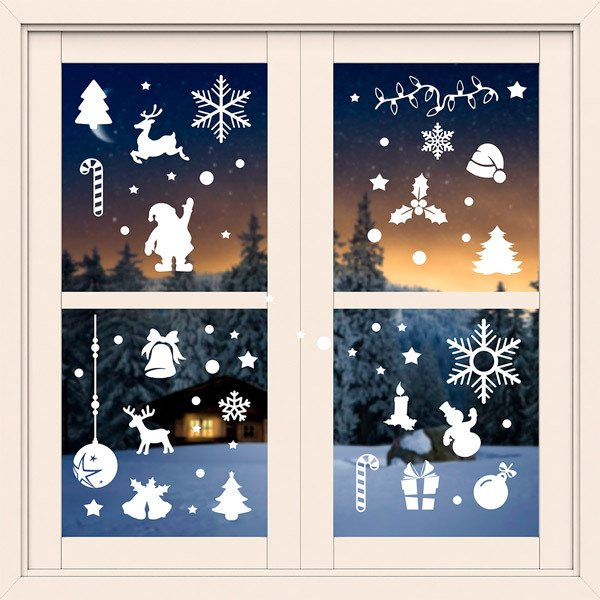 Stickers muraux: Kit 59X Décorations de Noël 2