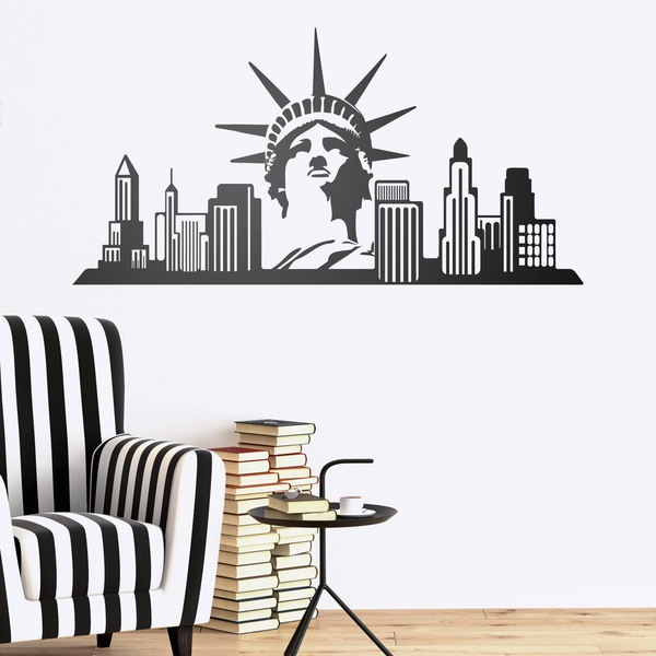 Stickers muraux: New York Skyline
