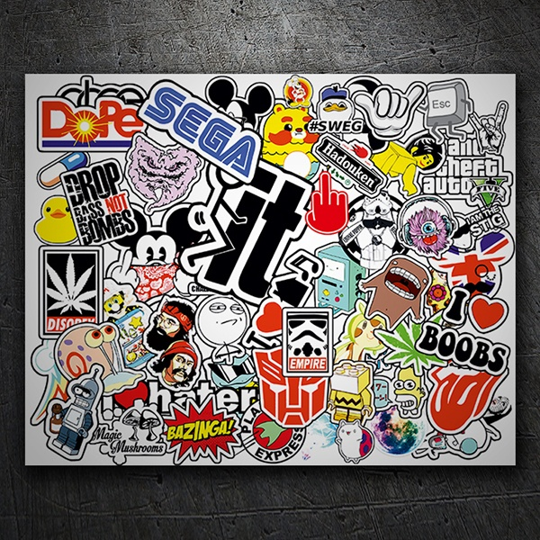 Autocollants: Sticker Bomb Freak