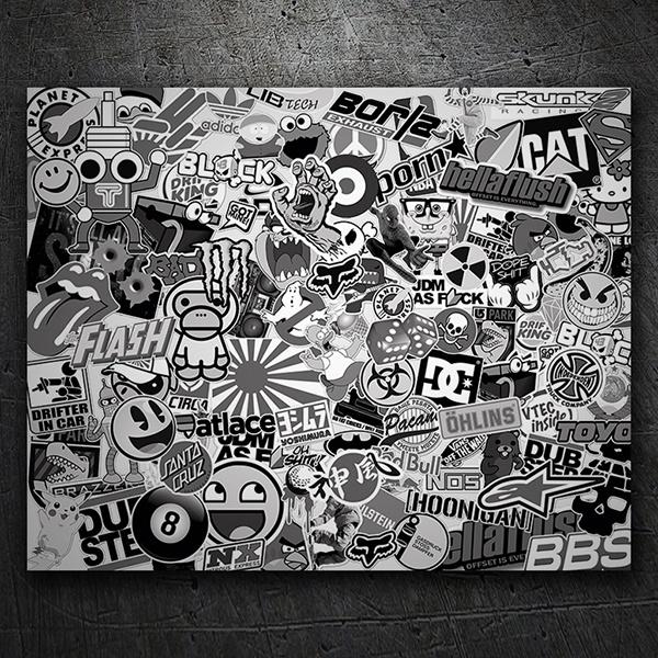 Stickerbomb Noir Et Blanc Webstickersmuraux Com