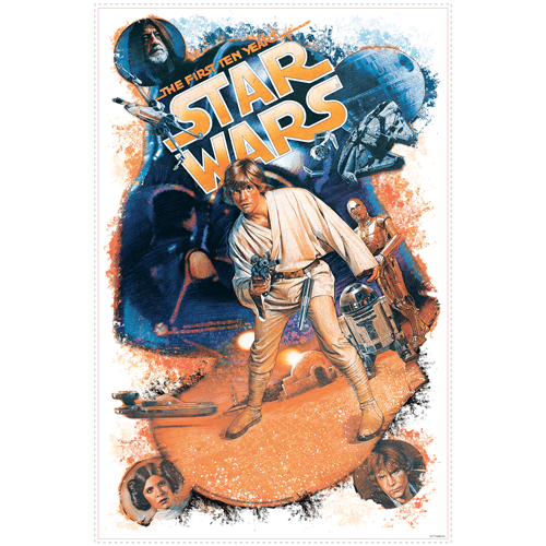 Stickers muraux: Star Wars Retro Luke Skywalker 0