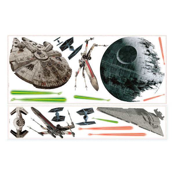 Stickers muraux: Navires Star Wars classiques