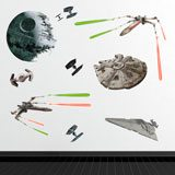 Stickers muraux: Navires Star Wars classiques 3