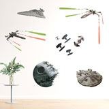 Stickers muraux: Navires Star Wars classiques 4