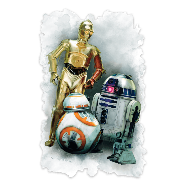 Stickers muraux: Sticker mural R2D2, C3PO et BB