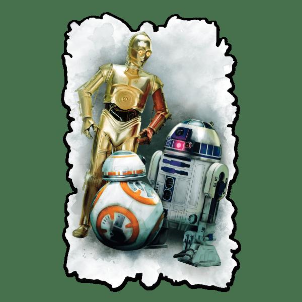 Stickers muraux: Sticker mural R2D2, C3PO et BB