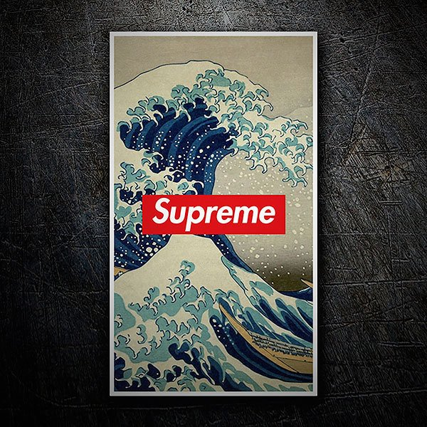 Autocollants: Supreme grande vague