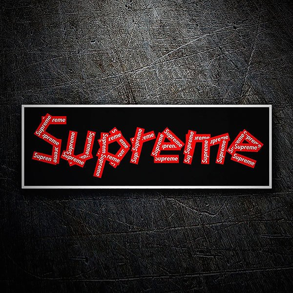 Autocollants: Supreme collage