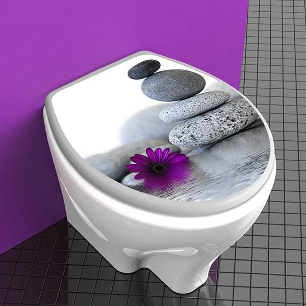 couvercle wc fleur de pierre zen. Black Bedroom Furniture Sets. Home Design Ideas