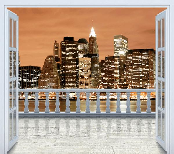 poster xxl terrasse new york sunset. Black Bedroom Furniture Sets. Home Design Ideas