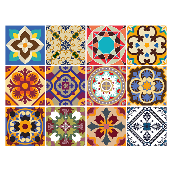Stickers muraux: Kit 48 Stickers Carrelage Talavera