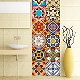 Stickers muraux: Kit 48 Stickers Carrelage Talavera 3